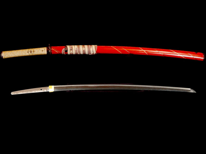 MOUNTED KATANA BY THE EDO SANDAI YASUTSUGU 三代康継  #080515