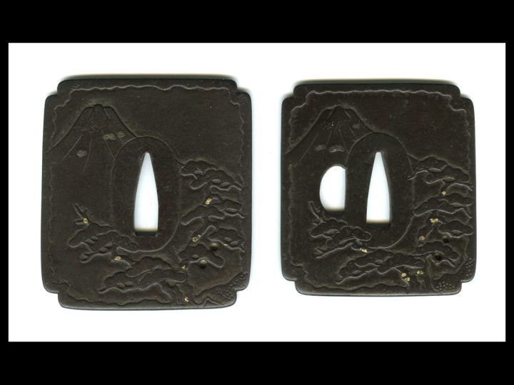 BEAUTIFUL IRON DAISHO OF TSUBA  #040315
